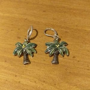 Palm Tree Pierced Earrings